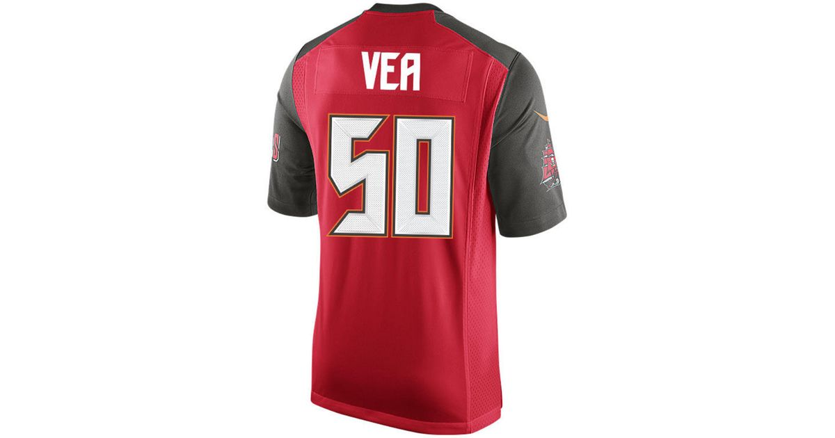 c850cde11 Lyst - Nike Vita Vea Tampa Bay Buccaneers Game Jersey in Red for Men