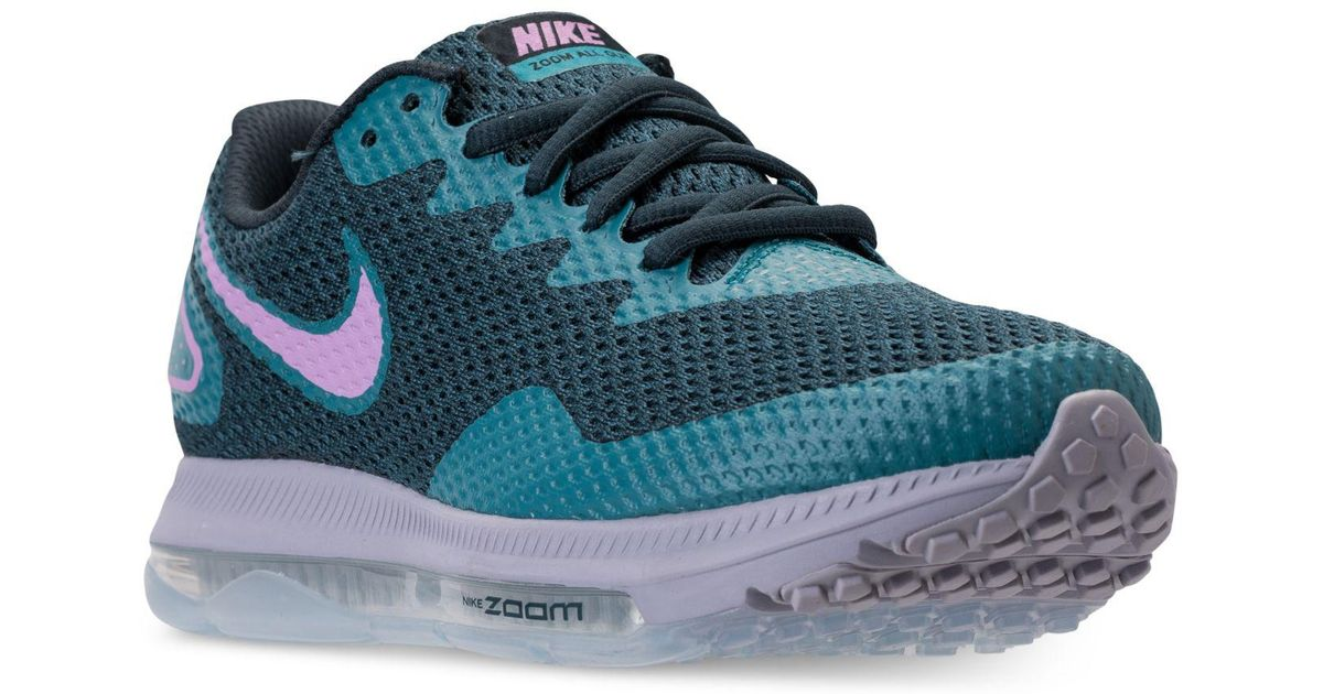 new product fb933 2830b Nike Women s Zoom All Out Low 2 Running Sneakers From Finish Line in Blue -  Lyst