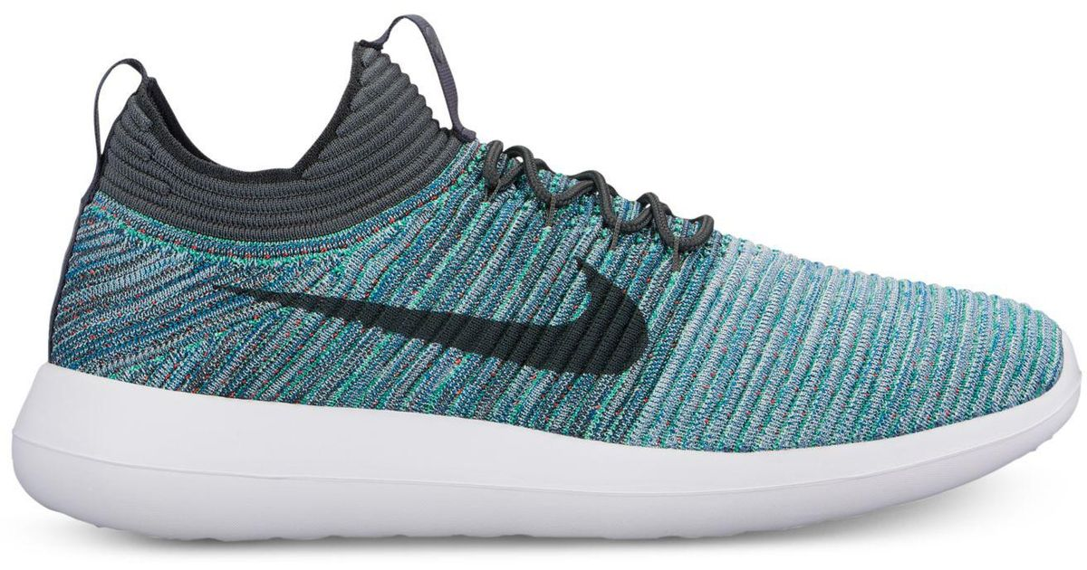60f291dfaea5 Lyst - Nike Roshe Two Flyknit V2 Casual Sneakers From Finish Line in Blue  for Men