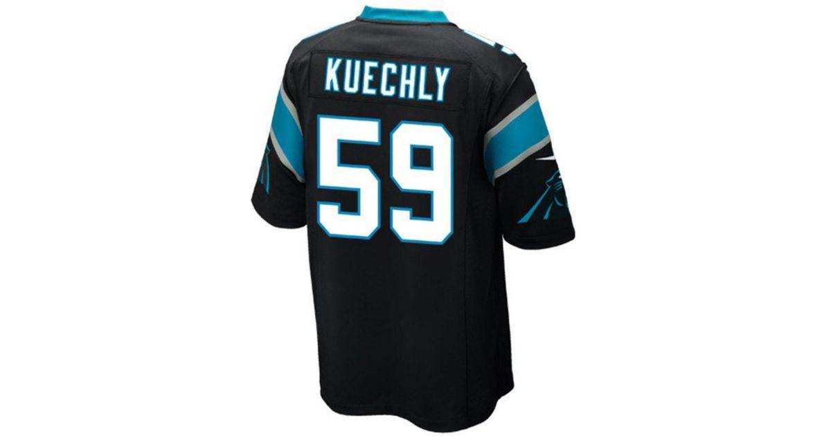 391266817 Lyst - Nike Men s Luke Kuechly Carolina Panthers Game Jersey in Black for  Men