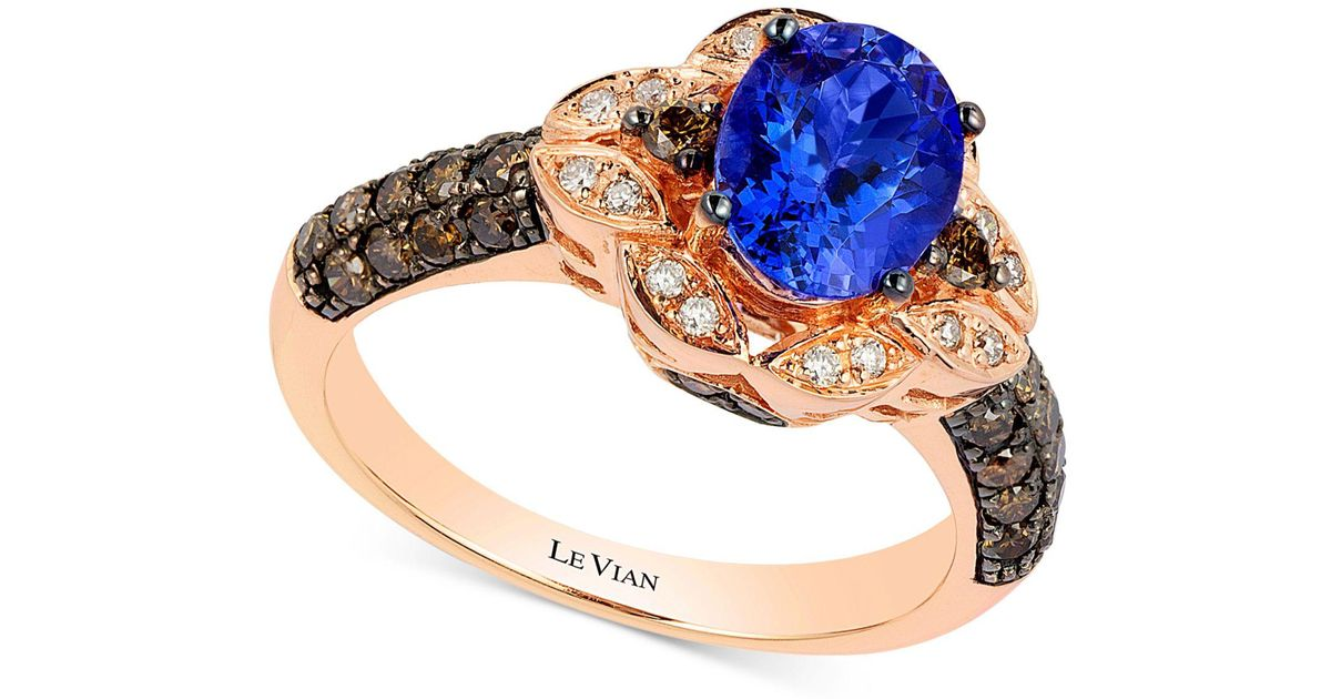 ring gold tanzanite blue vian in ae p sea diamond le bypass vanilla aquamarine blueberry and v