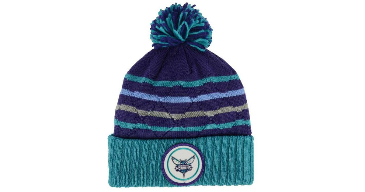 2c9f5c1a46b Lyst - Mitchell   Ness Quilted Hi Five Knit Hat in Blue for Men