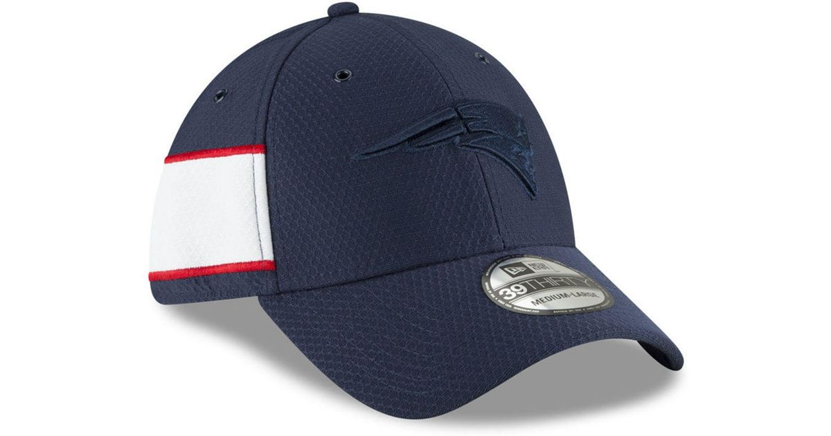 the best attitude b575a 406af KTZ New England Patriots Official Color Rush 39thirty Stretch Fitted Cap in  Blue for Men - Lyst