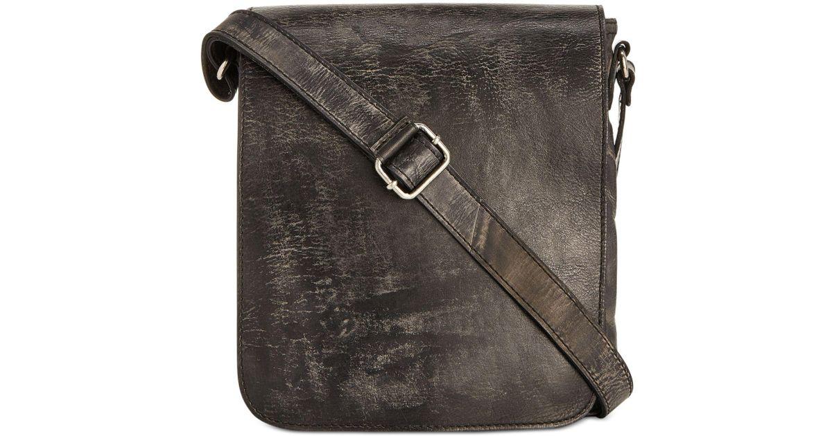537945a93 Patricia Nash Men's Roma Italian Leather Crossbody Bag in Gray for Men -  Lyst