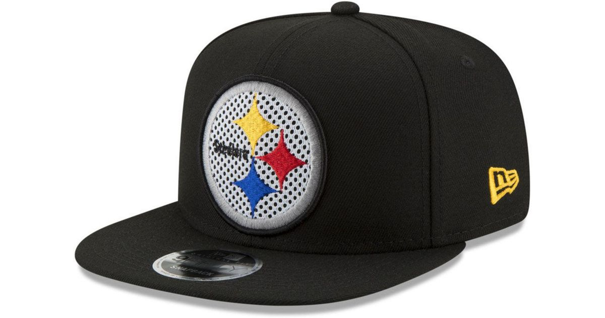 0db87c86388 Lyst - KTZ Pittsburgh Steelers Meshed Mix 9fifty Snapback Cap in Black for  Men