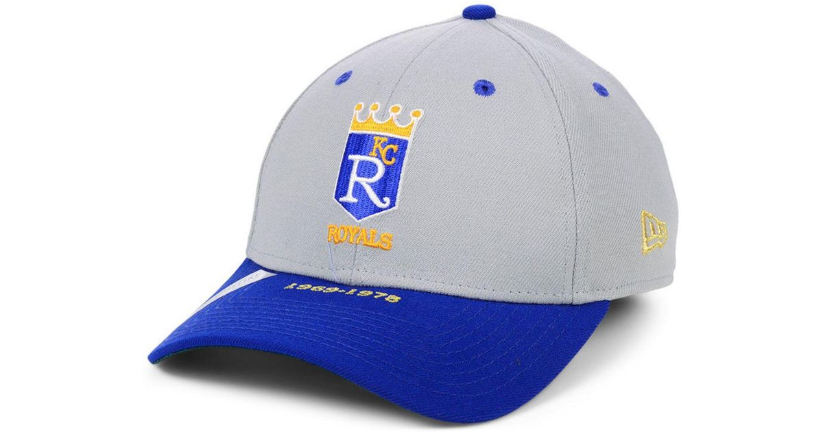 new arrivals 41e6a 2677f KTZ Kansas City Royals Timeline Collection 39thirty Cap in Blue for Men -  Lyst
