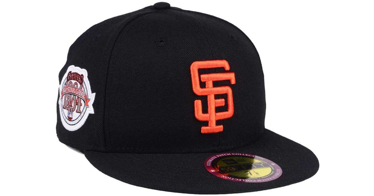 low priced 144e0 7e143 KTZ San Francisco Giants Ultimate Patch All Star Collection 59fifty Fitted Cap  in Black for Men - Lyst
