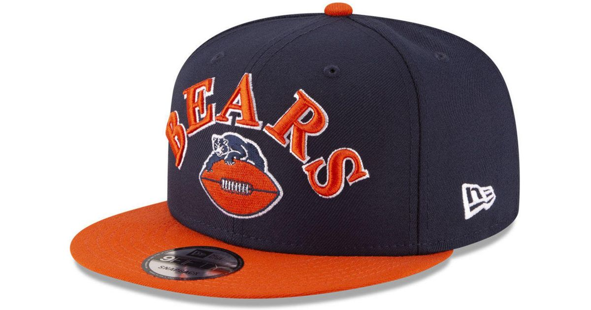 6f2a5e6859847 ... coupon code for lyst ktz chicago bears retro logo 9fifty snapback cap in  blue for men