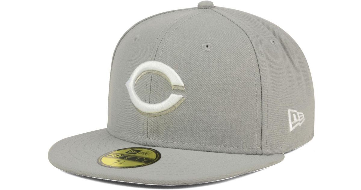 best authentic 9c6f6 aeaab Lyst - KTZ Cincinnati Reds C-dub Patch 59fifty Fitted Cap in Gray for Men