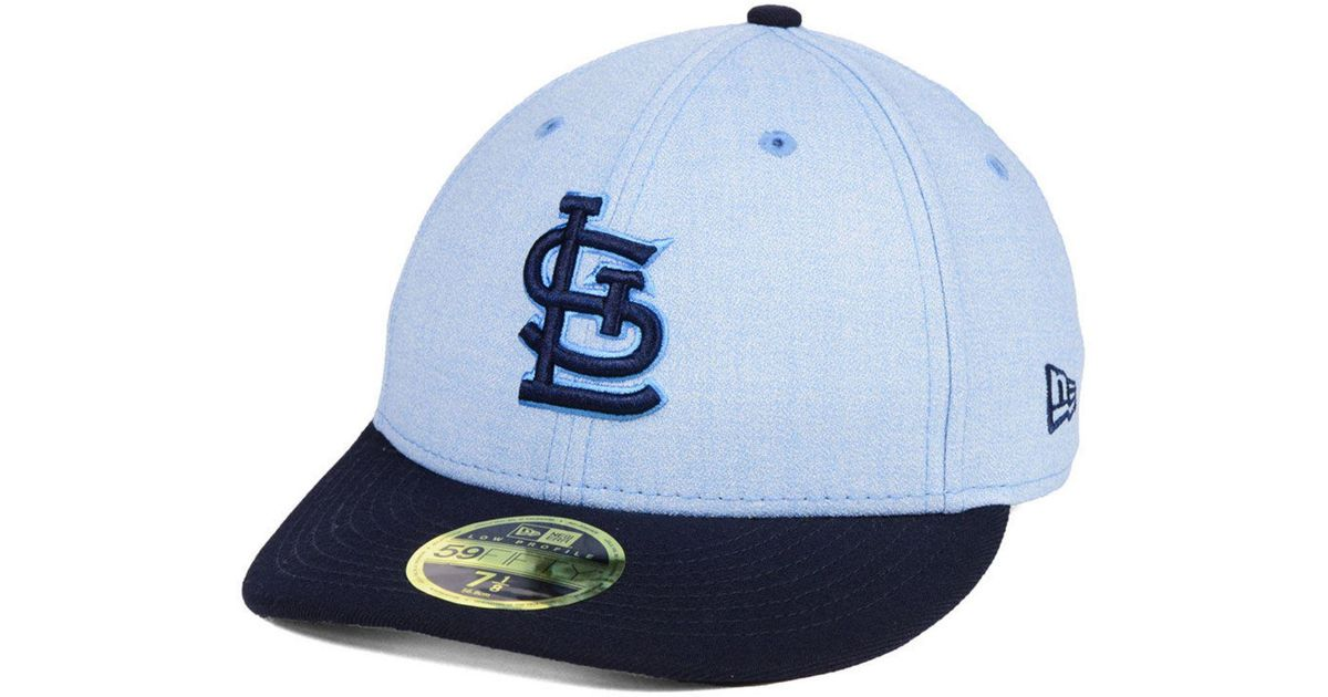 sale retailer 7c75f fee4c ... top quality lyst ktz st. louis cardinals fathers day low profile  59fifty cap in blue