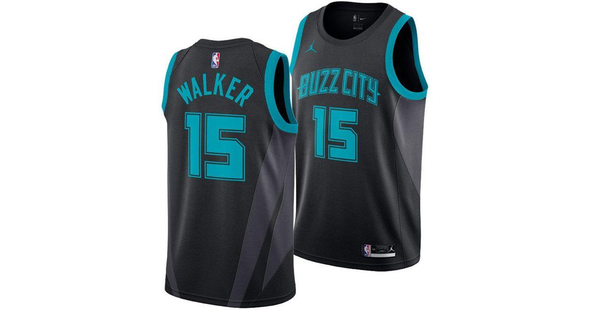 41b7a80d6 Nike Kemba Walker Charlotte Hornets City Swingman Jersey 2018 in Black for  Men - Lyst