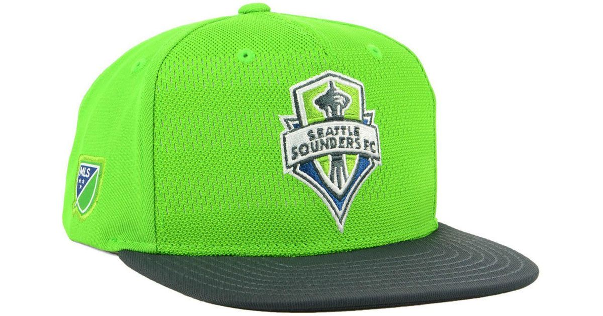 3040db9f21e Lyst - Adidas Seattle Sounders Fc Authentic Snapback Cap in Green for Men