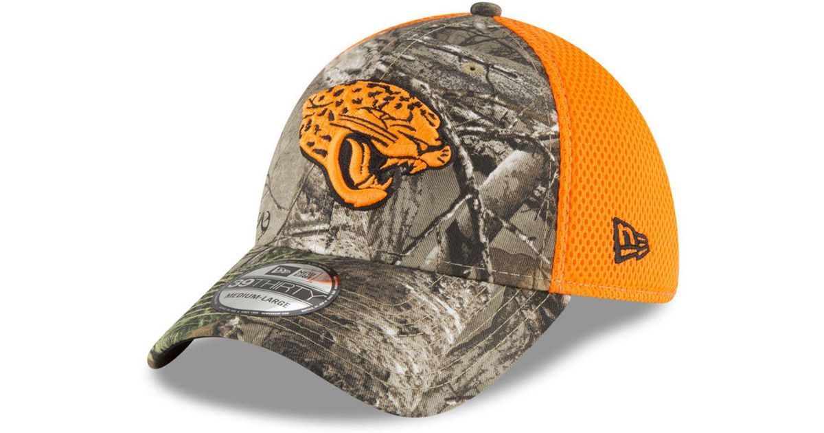 2df46fee3b5 Lyst - KTZ Jacksonville Jaguars Realtree Hunter Neo 39thirty Stretch Fitted  Cap for Men