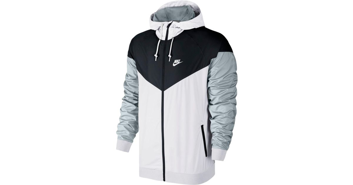 Lyst - Nike Windrunner Colorblocked Jacket in White for Men db16e7e25