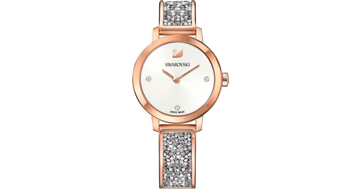 6cf5c8c51 Lyst - Swarovski Swiss Cosmic Rock Crystal Rose Gold-tone Bracelet Watch  29mm in Pink