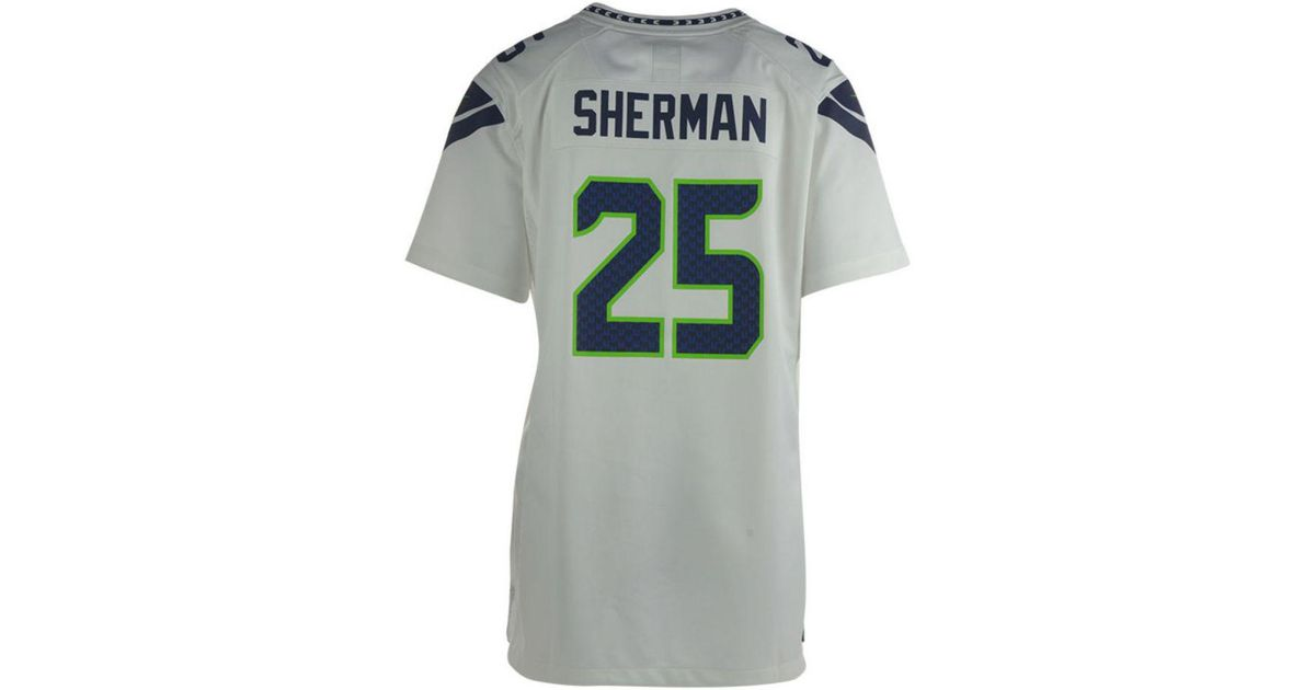 huge selection of 15185 250cd Nike - White Women's Richard Sherman Seattle Seahawks Game Jersey for Men -  Lyst