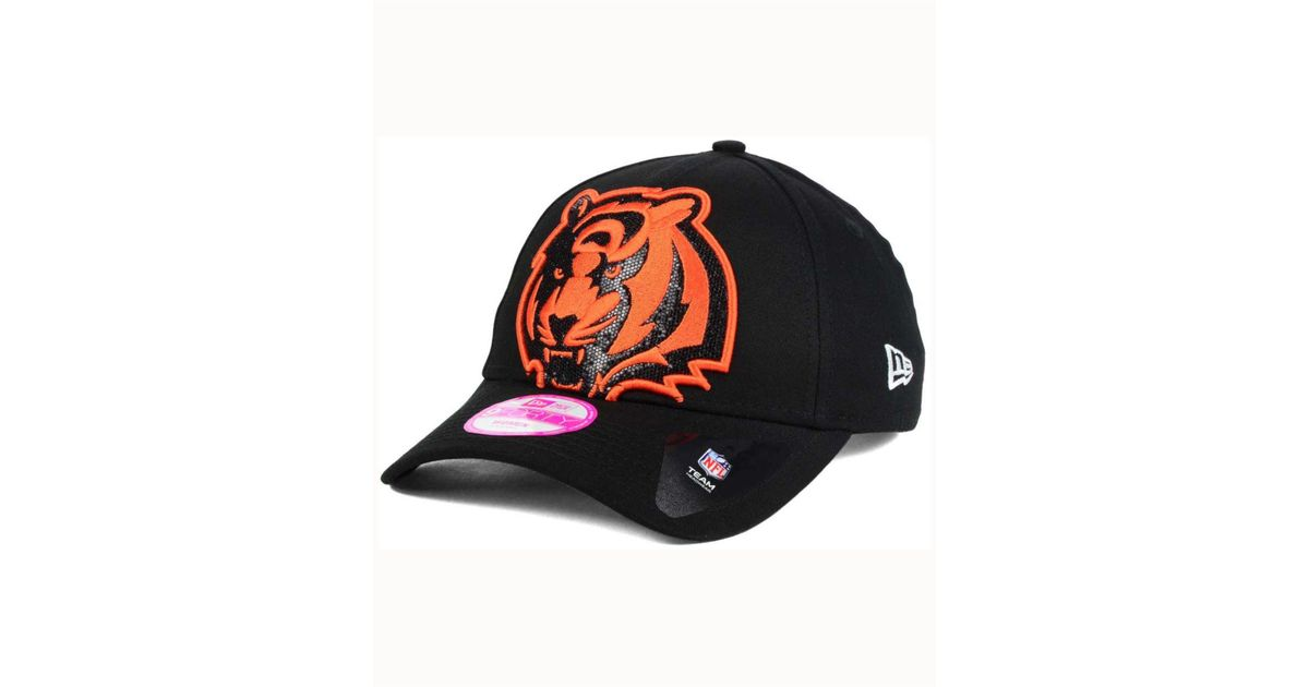 check out d5fe0 f0f20 Lyst - KTZ Women s Cincinnati Bengals Glitter Glam 2.0 9forty Cap in Black