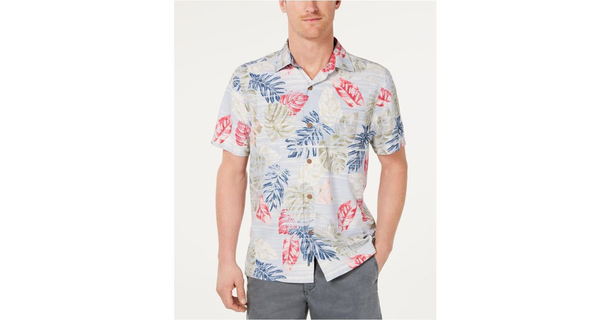 00df85a1 Lyst - Tommy Bahama Botanica Sketch Classic Fit Islandzone Moisture-wicking Hawaiian  Camp Shirt in White for Men