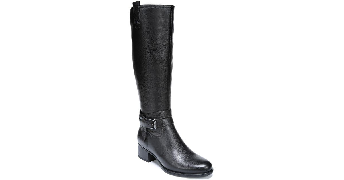 6d453cdb8c71 Lyst - Naturalizer Kim Wide Calf Riding Boots in Black