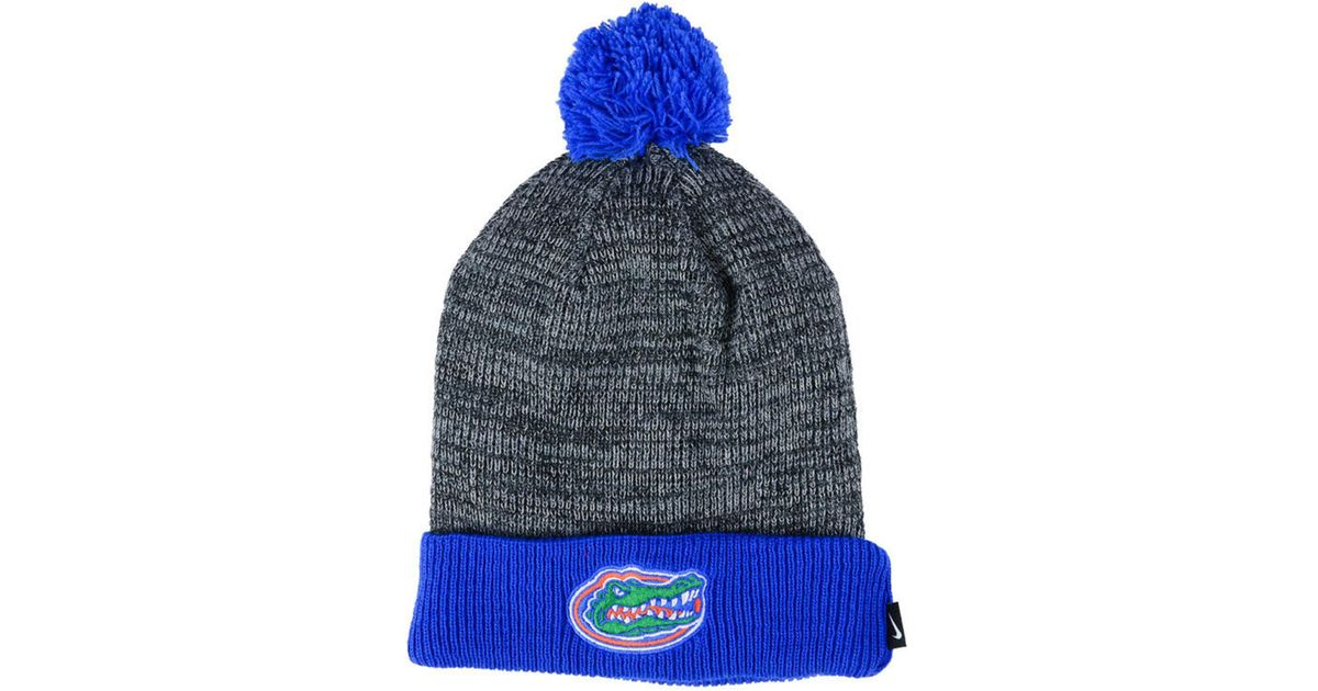the best attitude 220b6 06c13 ... discount lyst nike florida gators heather pom knit hat in blue for men  save 30.0 bcd25