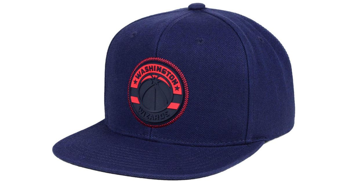 huge selection of d85e9 037c0 ... netherlands lyst mitchell ness washington wizards zig zag snapback cap  in blue for men 57020 7e4b4