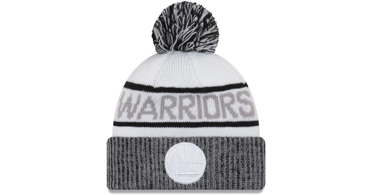 hot sale online 76a7b a1646 KTZ Golden State Warriors Court Force Pom Knit Hat in White for Men - Lyst
