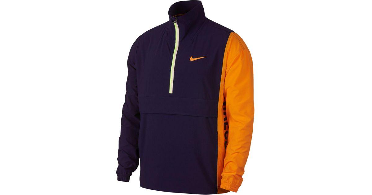 Lyst - Nike Court Repel Colorblocked Half-zip Jacket in Blue for Men 089ec014e