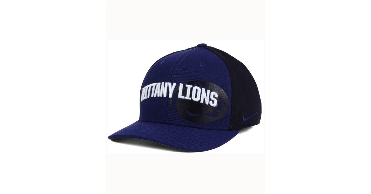 Lyst - Nike Penn State Nittany Lions Classic 99 Swoosh Flex Cap in Blue for  Men 24695508d07d