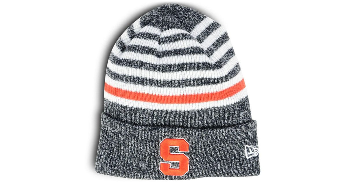 best cheap f4c74 f598c ... new arrivals lyst ktz syracuse orange striped chill knit hat in blue  for men 78d59 9e5b3