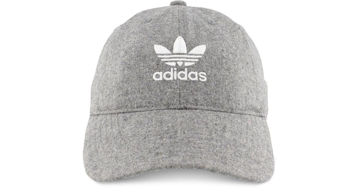 Lyst - Adidas Originals Faux-suede Cap in Gray for Men d50839b26e39