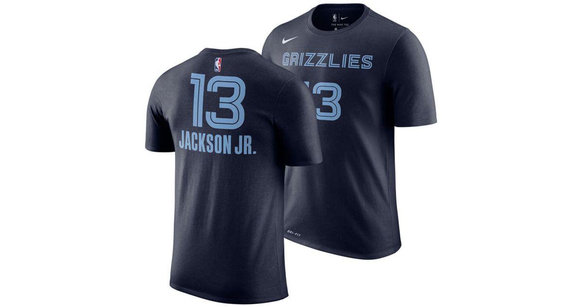5af1f4209 Nike Jaren Jackson Jr. Memphis Grizzlies Icon Player T-shirt in Blue for  Men - Lyst