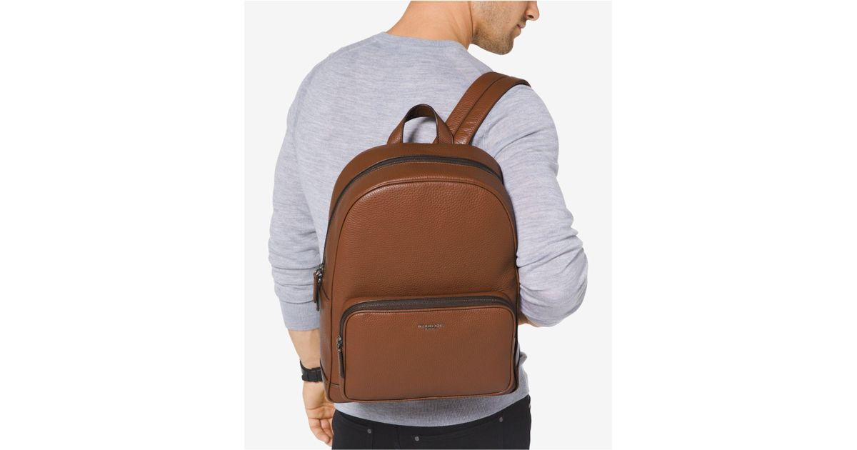 243318ac09ef ... new zealand michael kors bryant leather backpack in brown for men lyst  24335 443e8