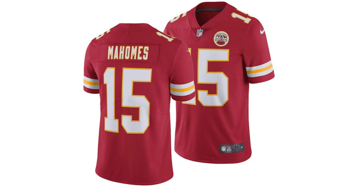 Lyst - Nike Pat Mahomes Kansas City Chiefs Vapor Untouchable Limited Jersey  in Red for Men 1f1aa506f