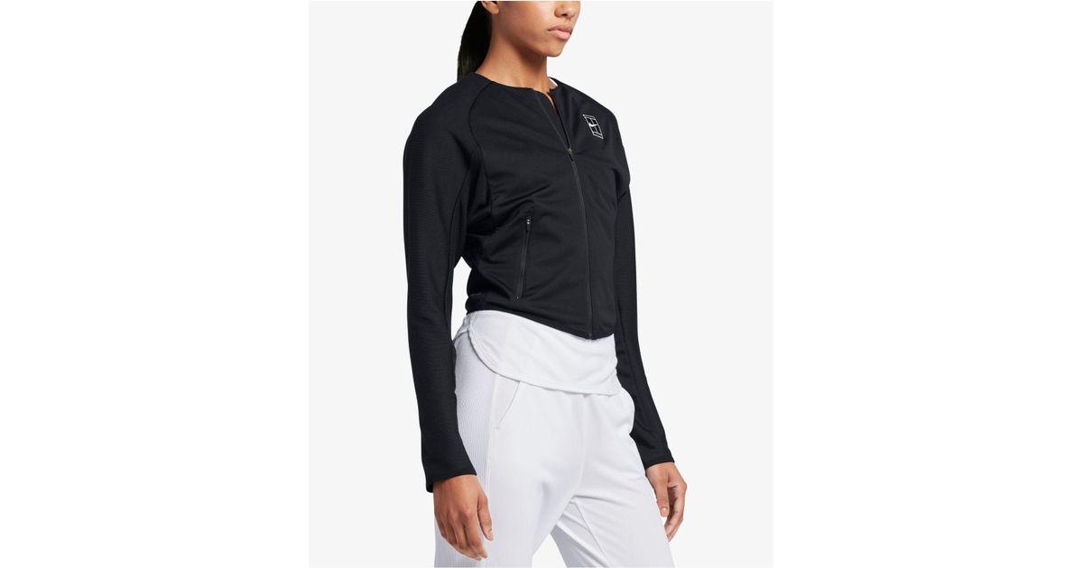 3bb194740445 Lyst - Nike Court Dri-fit Tennis Jacket in Black
