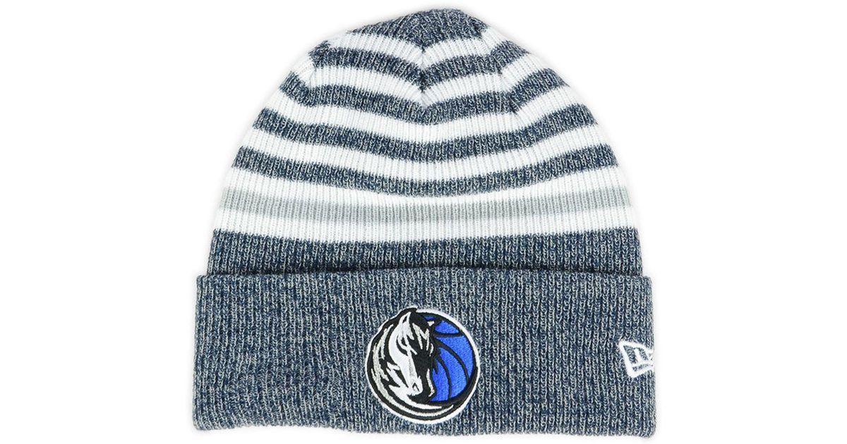 Lyst - Ktz Dallas Mavericks Striped Cuff Knit Hat in Blue a1e7dba6e