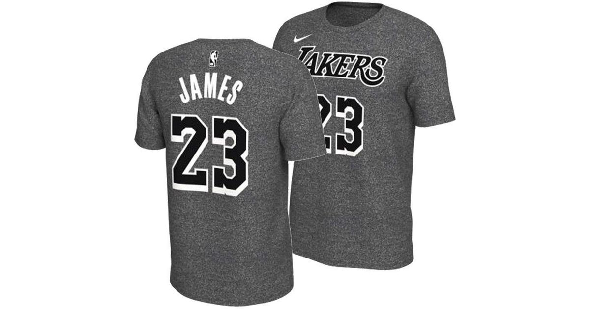 804a673b0718 Nike Lebron James Los Angeles Lakers Marled Player T-shirt in Gray for Men  - Lyst