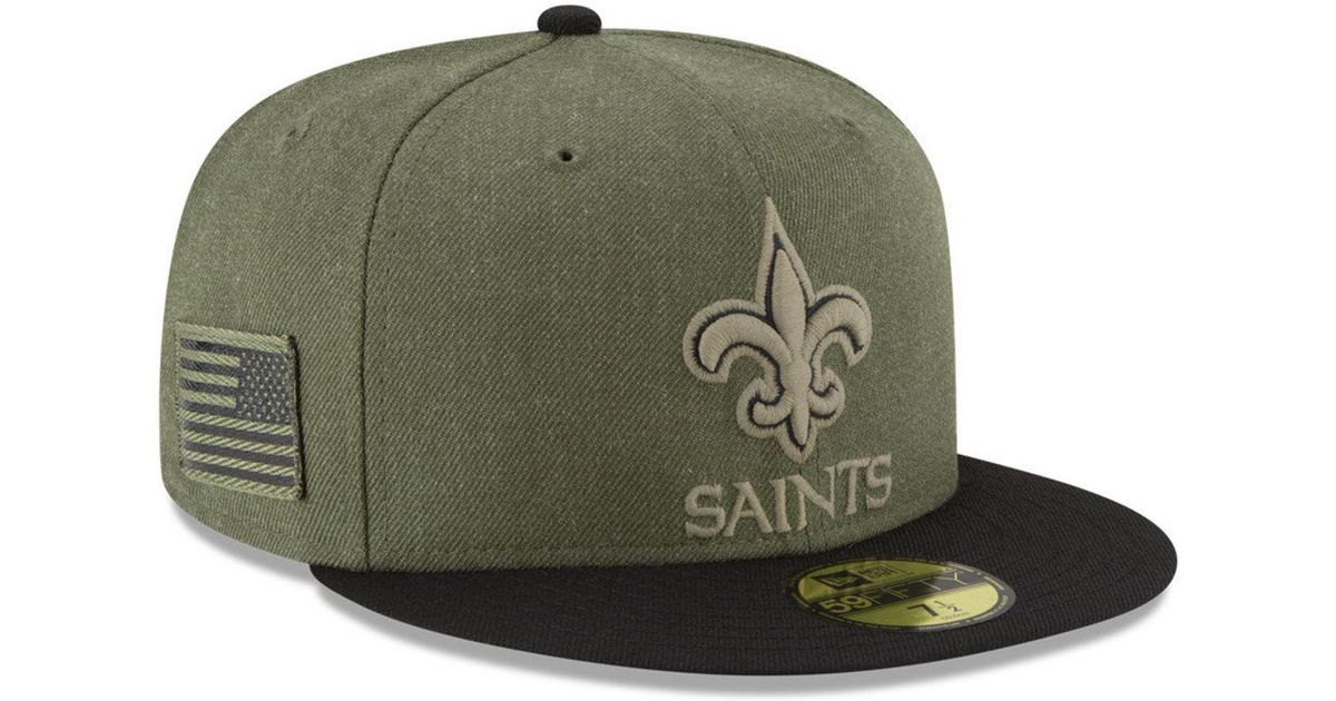 huge discount 1a413 a20b7 Lyst - KTZ New Orleans Saints Salute To Service 59fifty Fitted Cap in Green  for Men