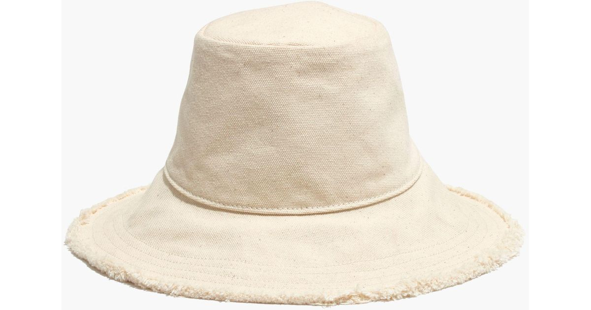 1795c6d7a6 Madewell Canvas Bucket Hat in Natural - Lyst