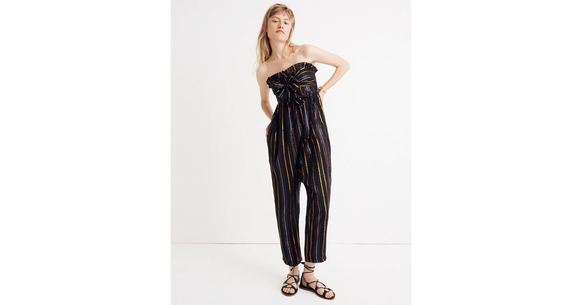 2922d289be42 Lyst - Madewell Apiece Aparttm Striped Zaza Gipsea Jumpsuit in Black