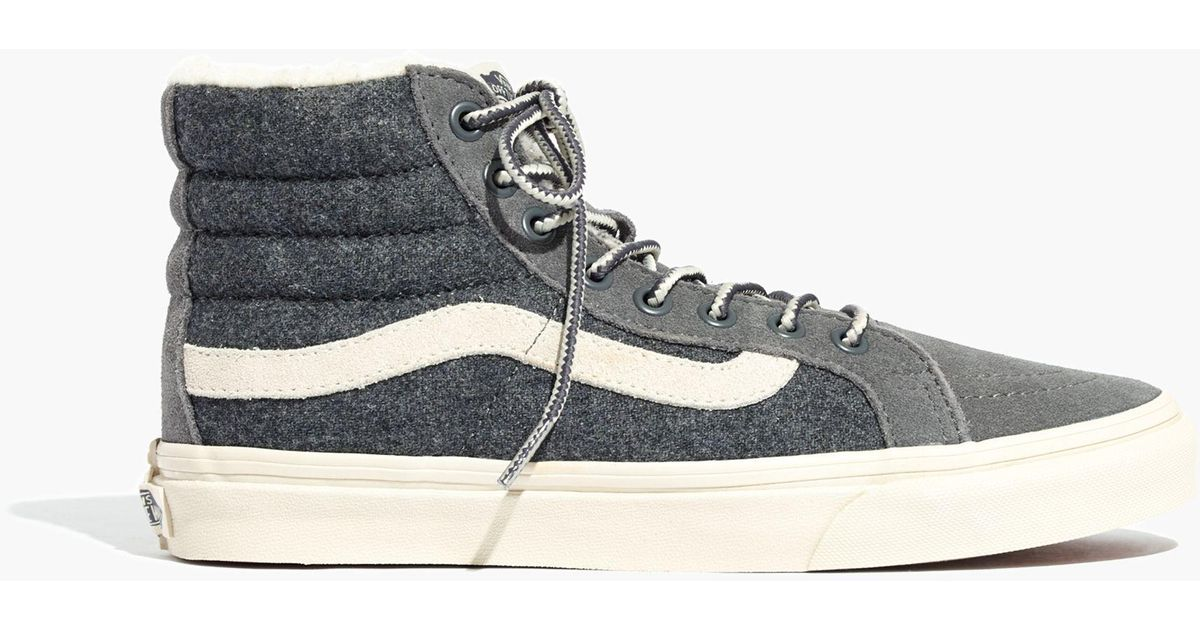 fa06ccbc3678a8 Madewell X Vans® Unisex Weatherized Classic Sk8-hi High-top Sneakers in  Gray - Lyst