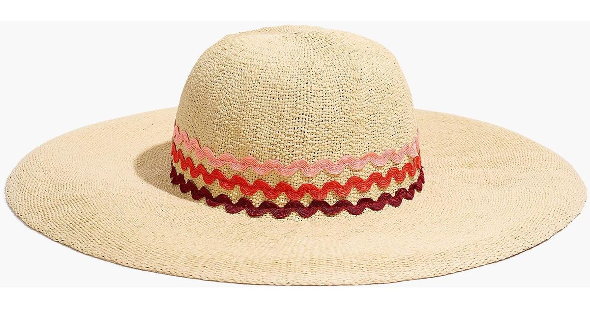 low priced 179b7 f0968 Madewell X Biltmore® Rickrack Straw Hat in Brown - Lyst