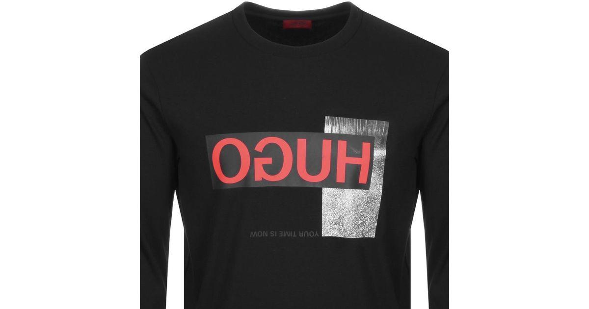 beautiful style modern design noveldesign HUGO Cotton By Boss Dicago Sweatshirt Black for Men - Lyst
