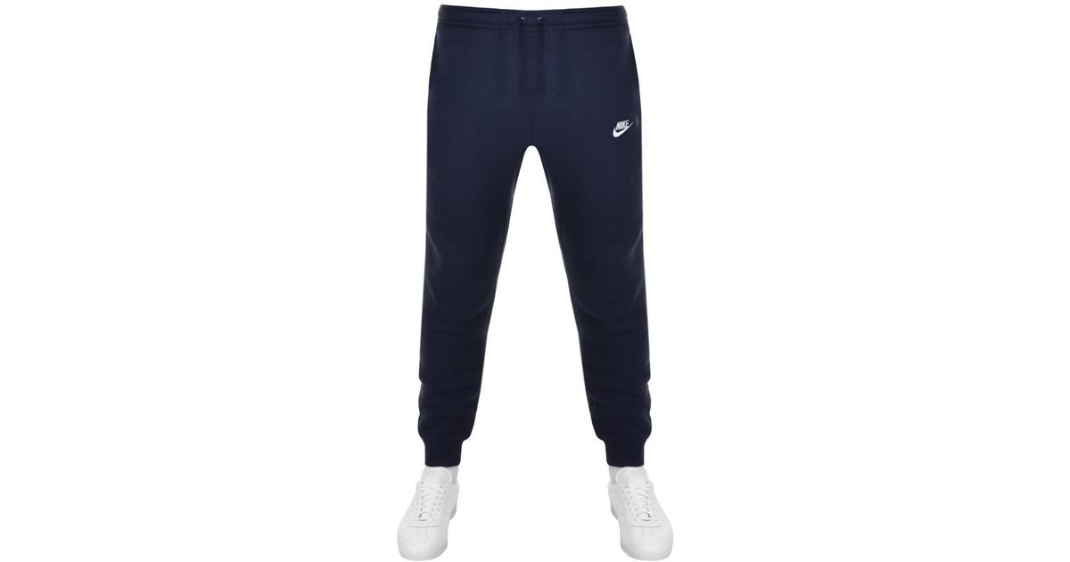 fde3fbbff19e Nike Tapered Fit Club Jogging Bottoms Navy in Blue for Men - Lyst