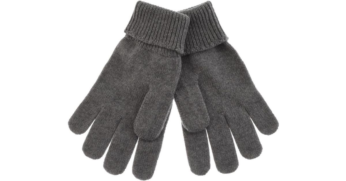 1c4dd5aea13cab Lyst - Lacoste Merino Wool Ribbed Gloves Navy in Gray for Men