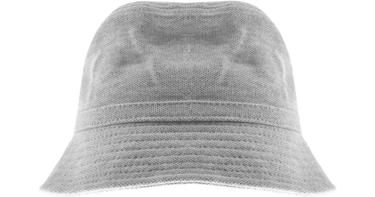 c03a06fd6b48 Lacoste Pique Bucket Hat Grey in Gray for Men - Lyst