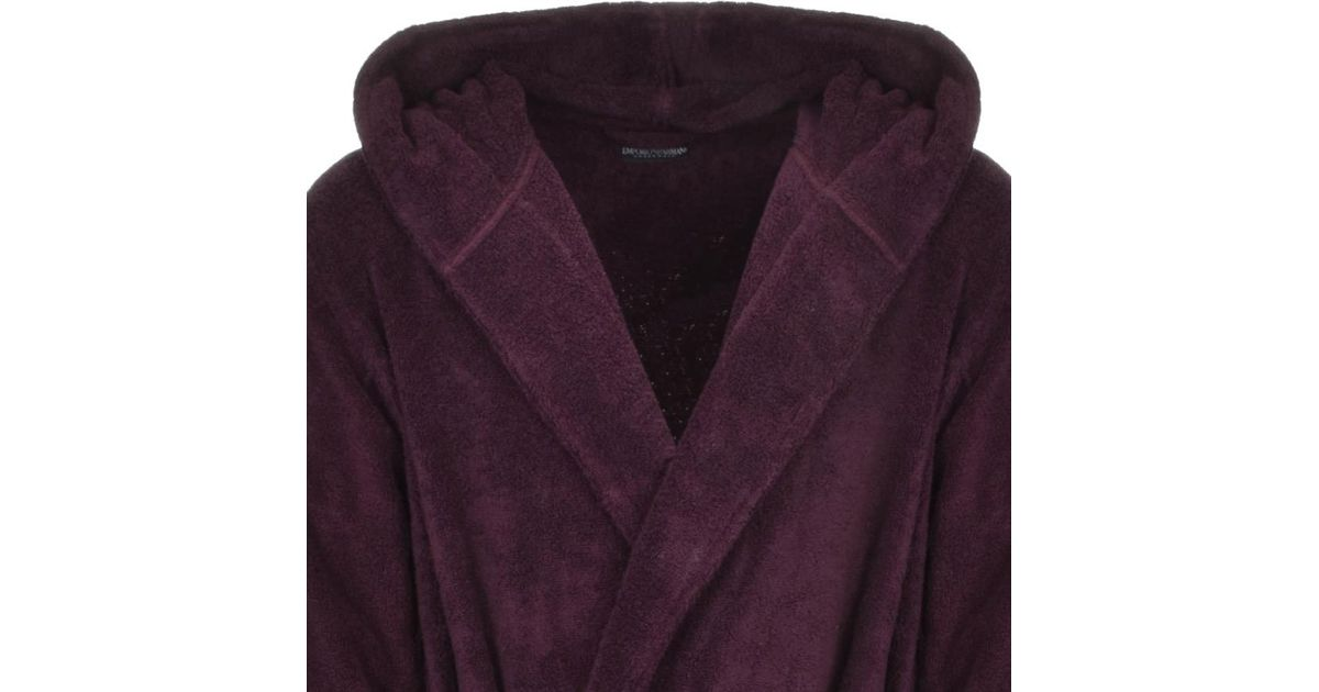 Armani Emporio Dressing Gown Burgundy in Purple for Men - Lyst 31e483c5f