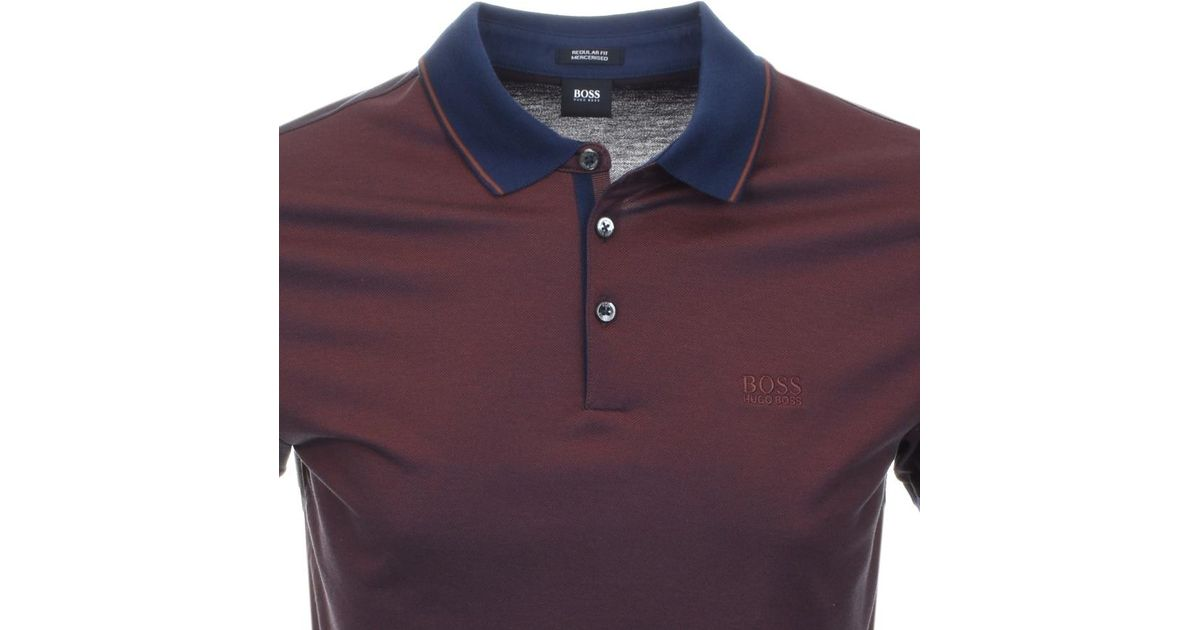 98319506d BOSS Prout 10 Polo T Shirt Brown in Brown for Men - Lyst