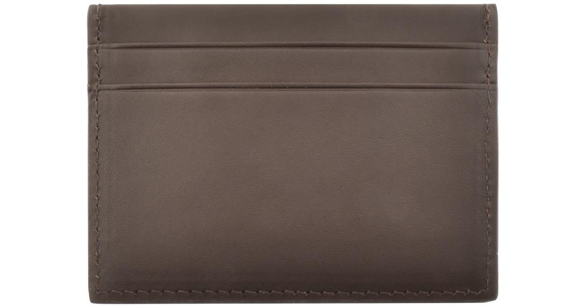 5611730774 GANT Leather Card Holder Brown in Brown for Men - Lyst