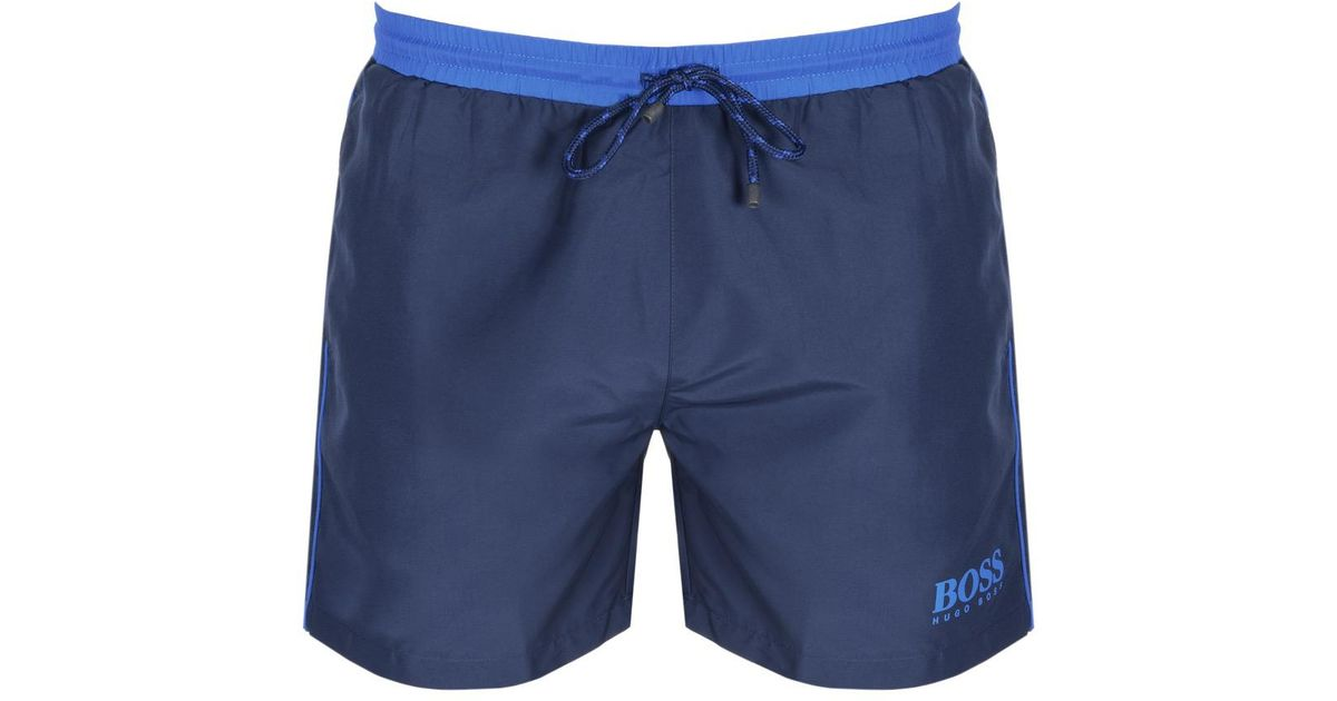 65d306c35b92 Boss Starfish Swim Shorts Navy in Blue for Men - Lyst