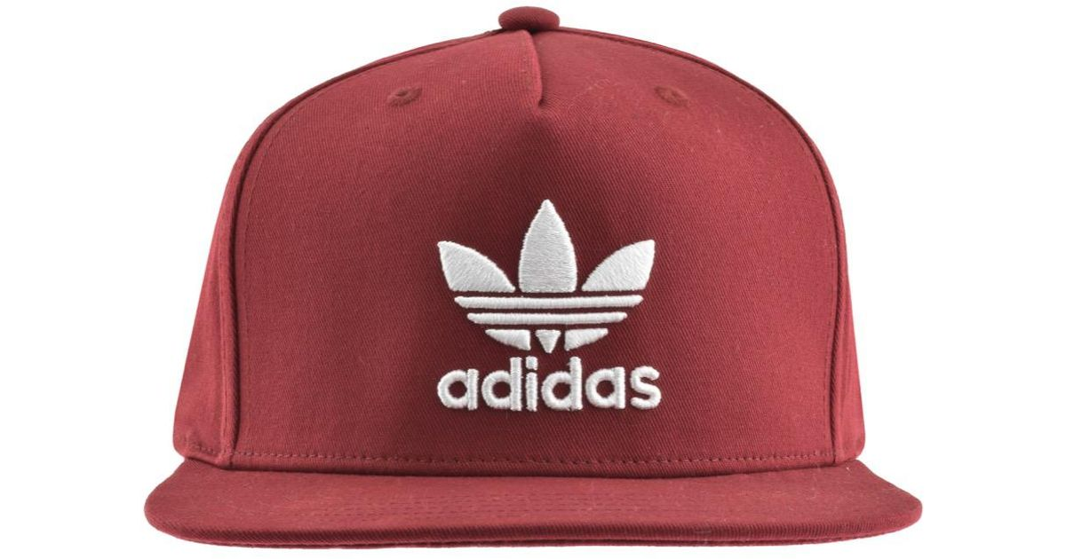Lyst - adidas Originals Trefoil Cap Burgundy in Red for Men fa89633f91e